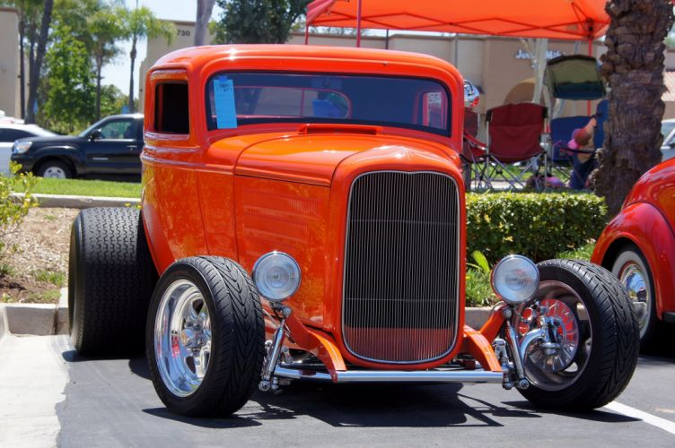 1932 Ford Coupe Three Window Hotrod Streetrod Hot Rod Street USA 2048x1360 wallpaper
