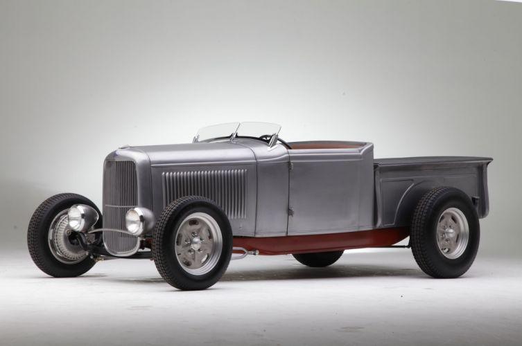 1932 Ford Roadster Pickup Hotrod Streetrod Hot Rod Street USA -01 wallpaper