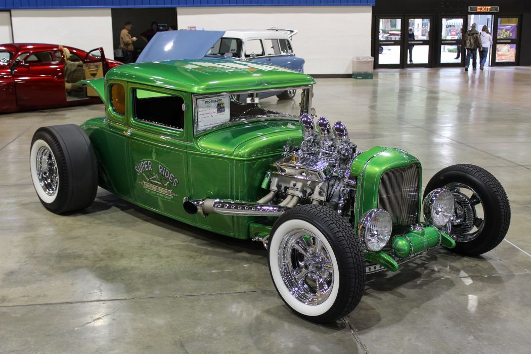 1930 Ford Model-A Coupe Five Window Hotrod Hot Rod Custom Old School ...
