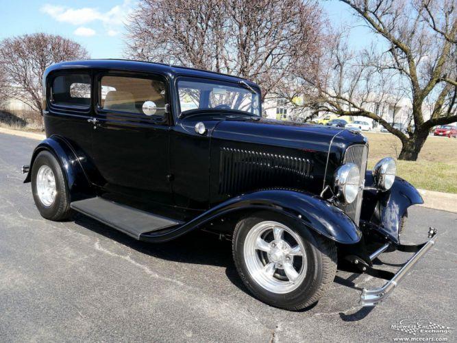 1932 Ford Sedan Street Rod Hot Streetrod Hotrod USA -02 wallpaper
