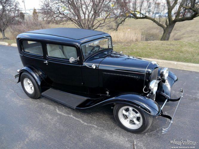 1932 Ford Sedan Street Rod Hot Streetrod Hotrod USA -08 wallpaper