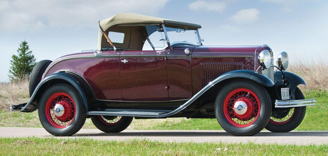 1932 Ford V-8 De Luxe Roadster Classic Old Retro Vintage Original USA 2500x1367-02 wallpaper