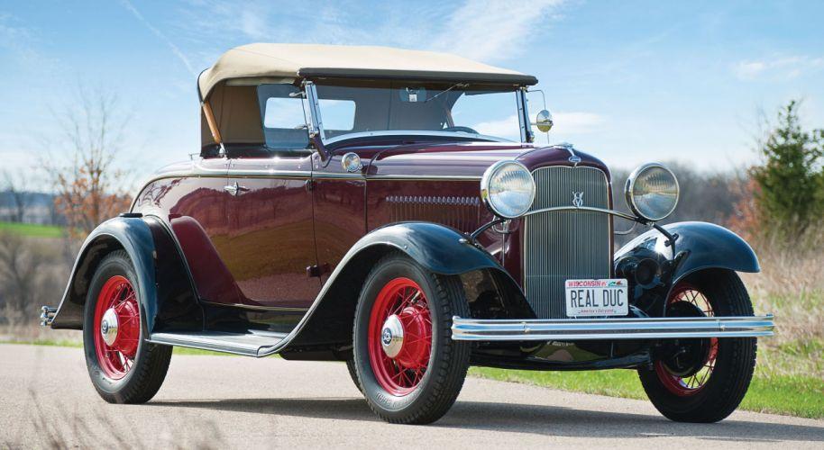 1932 Ford V-8 De Luxe Roadster Classic Old Retro Vintage Original USA 2500x1367-01 wallpaper