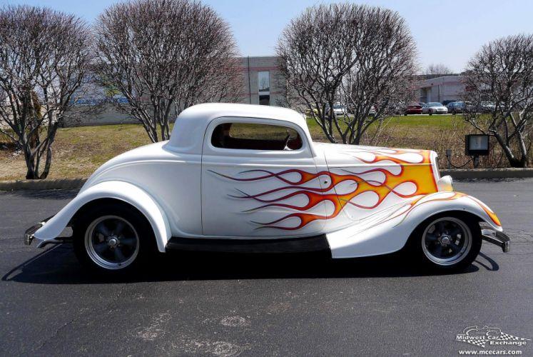 1934 Ford Coupe Three Window Street Rod Hot Streetrod Hotrod USA -03 wallpaper