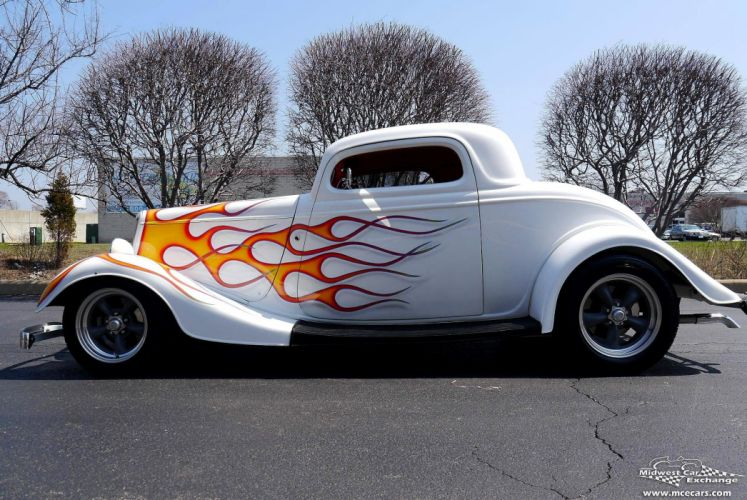 1934 Ford Coupe Three Window Street Rod Hot Streetrod Hotrod USA -10 wallpaper