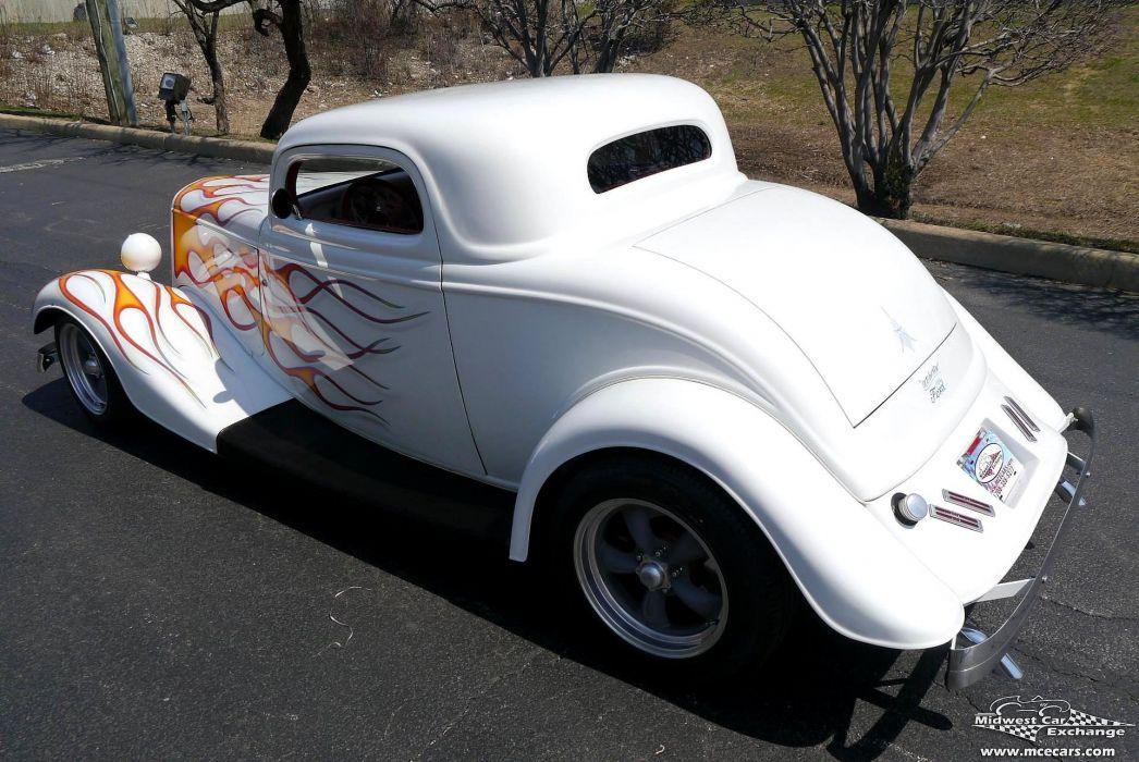 1934 Ford Coupe Three Window Street Rod Hot Streetrod Hotrod USA -13 wallpaper