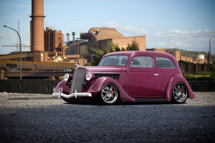 1935 Ford Tudor Sedan Two Door Hotrod Streetrod Hot Rod Street USA 1920x1280 wallpaper