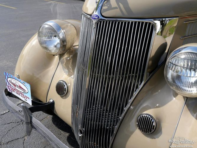 1936 Ford Deluxe Coupe Three Window Classic Old Vintage Original USA -05 wallpaper