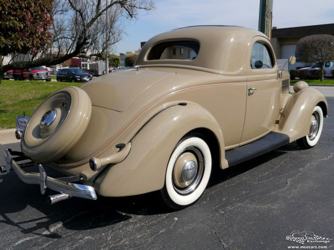 1936 Ford Deluxe Coupe Three Window Classic Old Vintage Original USA -06 wallpaper
