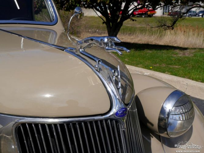 1936 Ford Deluxe Coupe Three Window Classic Old Vintage Original USA -07 wallpaper