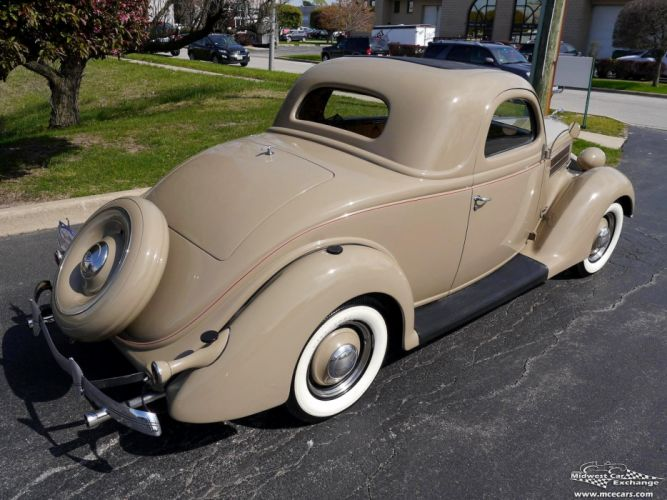 1936 Ford Deluxe Coupe Three Window Classic Old Vintage Original USA -10 wallpaper