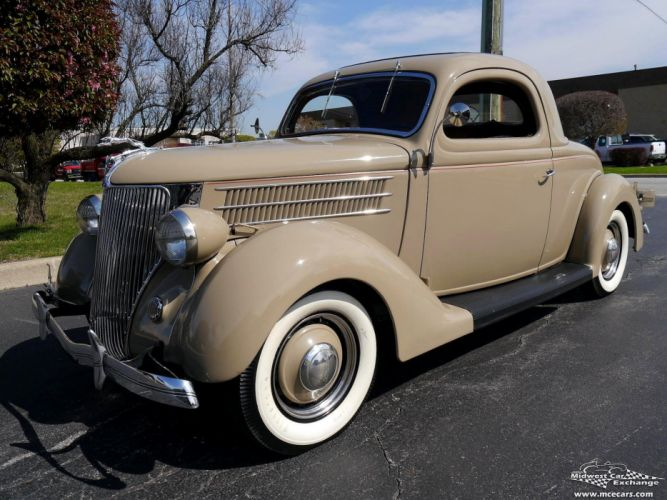 1936 Ford Deluxe Coupe Three Window Classic Old Vintage Original USA -13 wallpaper