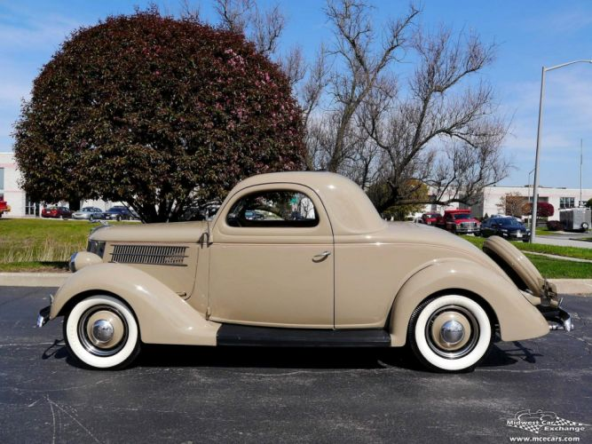 1936 Ford Deluxe Coupe Three Window Classic Old Vintage Original USA -11 wallpaper