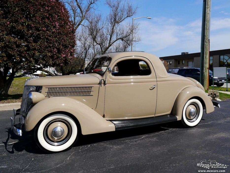 1936 Ford Deluxe Coupe Three Window Classic Old Vintage Original USA -12 wallpaper
