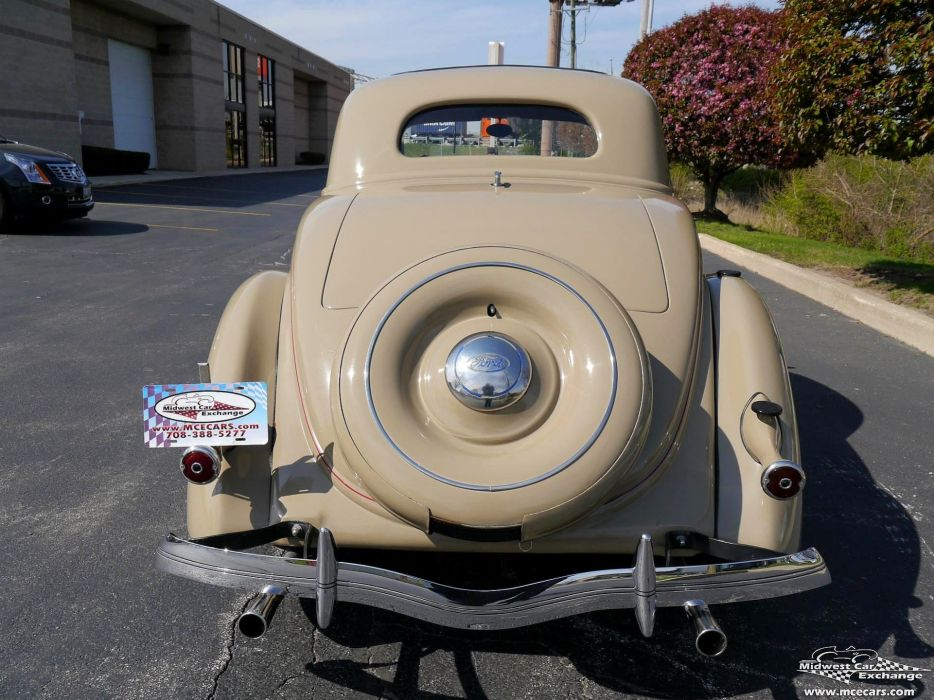 1936 Ford Deluxe Coupe Three Window Classic Old Vintage Original USA -14 wallpaper
