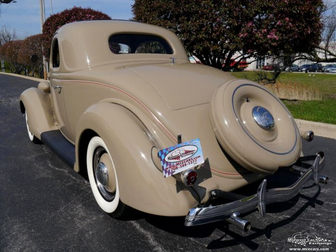 1936 Ford Deluxe Coupe Three Window Classic Old Vintage Original USA -16 wallpaper