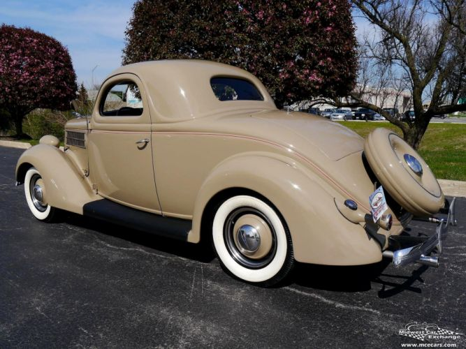 1936 Ford Deluxe Coupe Three Window Classic Old Vintage Original USA -15 wallpaper