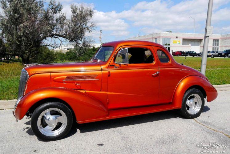 1937 Chevrolet Coupe Five Window Street Rod Hot Streetrod Hotrod USA -01 wallpaper