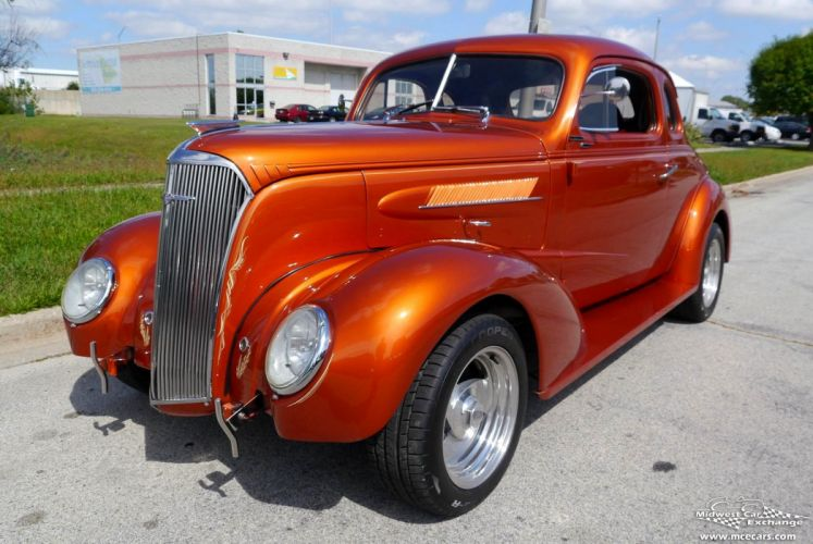 1937 Chevrolet Coupe Five Window Street Rod Hot Streetrod Hotrod USA -03 wallpaper
