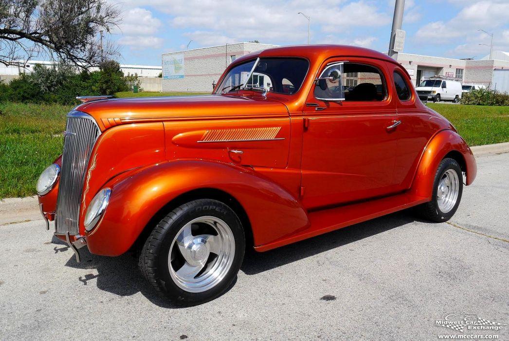 1937 Chevrolet Coupe Five Window Street Rod Hot Streetrod Hotrod USA -02 wallpaper