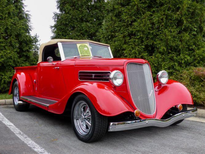 1934 Ford Roadster Pickup Hotrod Streetrod Hot Rod Street Red USA 4000x3000 wallpaper