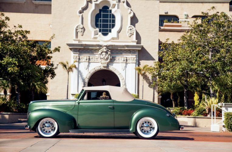 1939 Ford Deluxe Convertible Hotrod Streetrod Hot Rod Street Custom USA -01 wallpaper