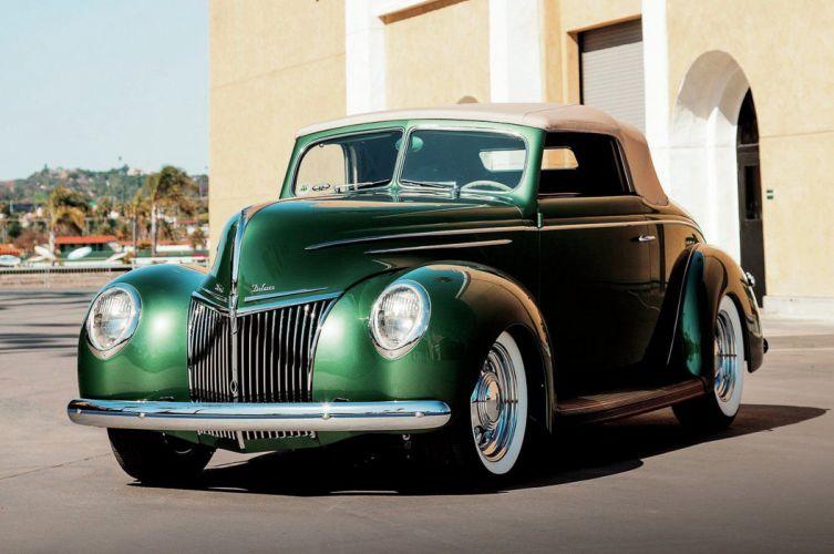 1939 Ford Deluxe Convertible Hotrod Streetrod Hot Rod Street Custom USA -02 wallpaper