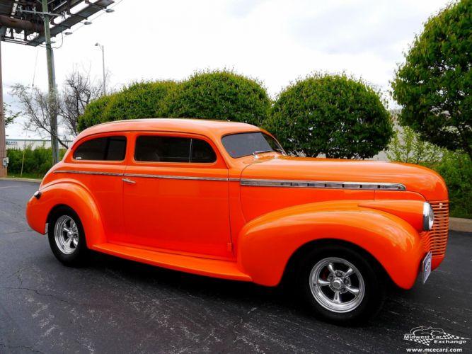 1940 Chevrolet Special Deluxe Two Door Sedan Street Rod hOT Streetrod Chopped USA -01 wallpaper