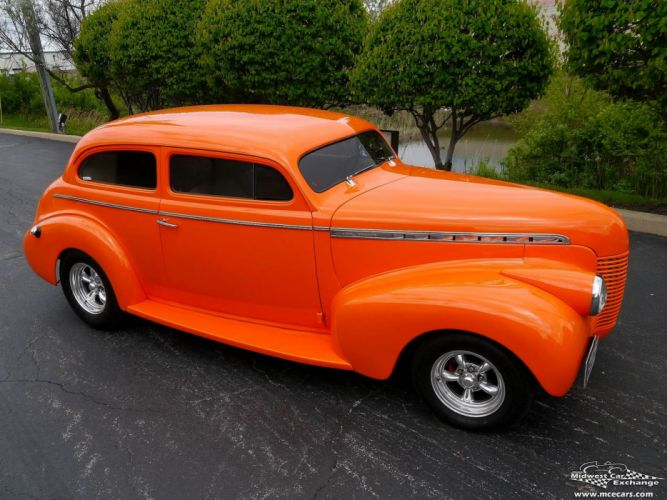 1940 Chevrolet Special Deluxe Two Door Sedan Street Rod hOT Streetrod Chopped USA -09 wallpaper