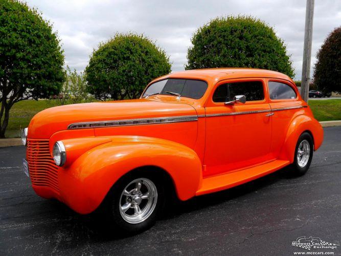 1940 Chevrolet Special Deluxe Two Door Sedan Street Rod hOT Streetrod Chopped USA -13 wallpaper