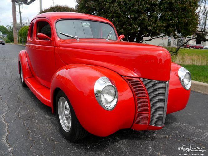 1940 Ford Coupe Street Rod Hot Streetrod Hotrod USA -03 wallpaper
