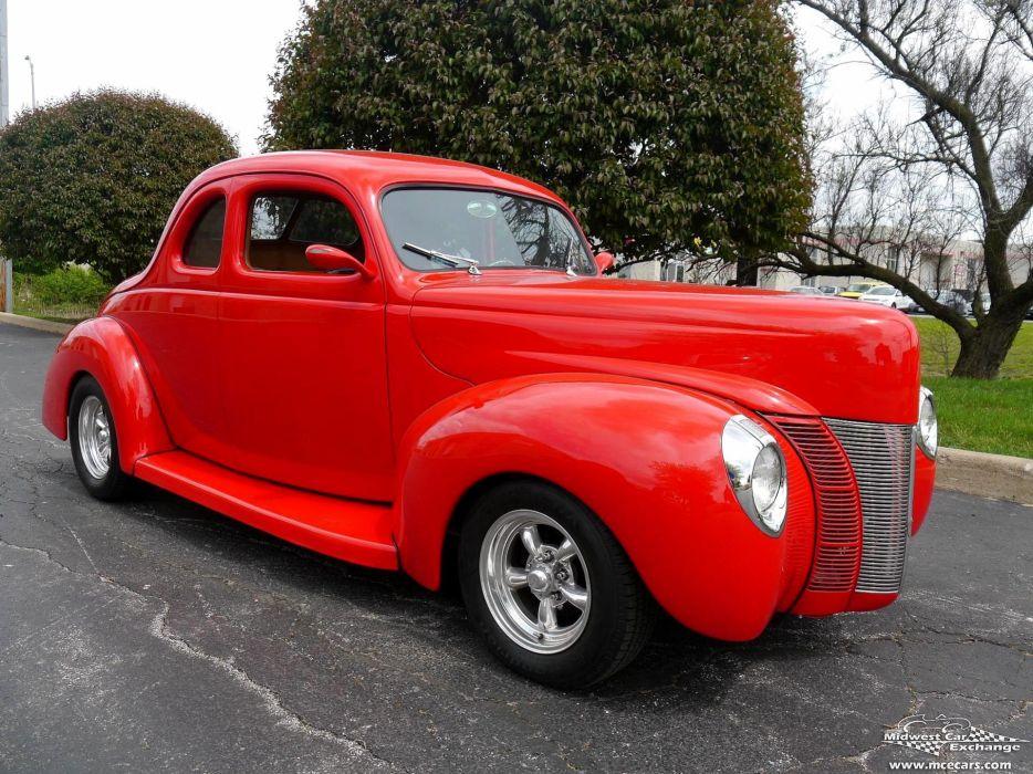 1940 Ford Coupe Street Rod Hot Streetrod Hotrod USA -02 wallpaper