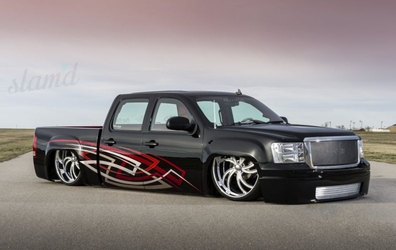 2008 GMC SIERRA 1500 lowrider pickup truck custom tuning d wallpaper