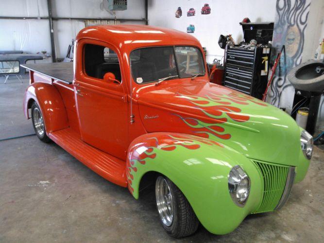 1941 Ford Pickup Hotrod Street Rod Hot Rod Street USA -01 wallpaper