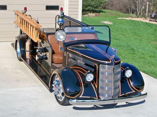 1944 Mack Fire Truck Streetrod Street Rod USA-1920x1440-01 wallpaper