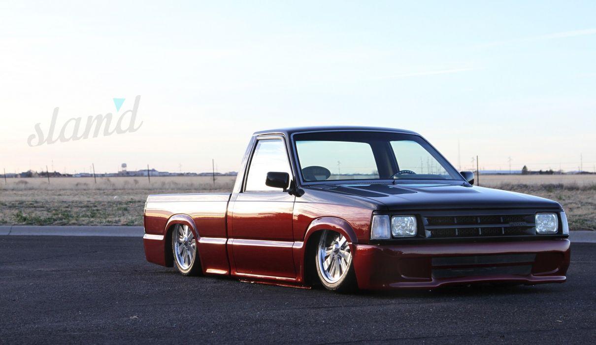 1989 Mazda B2000 pickup lowrider tuning custom f wallpaper