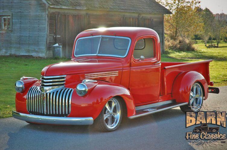 1946 Chevrolet Checvy Pickup Hotrod Streetrod Hot Rod Street USA 1500x1000-04 wallpaper