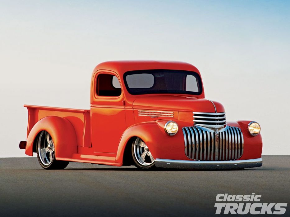 1946 Chevrolet Checvy Pickup Lowered Low Hotrod Streetrod Hot Rod Street USA 1600x1200-02 wallpaper