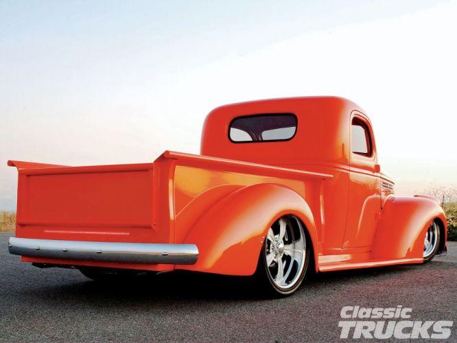 1946 Chevrolet Checvy Pickup Lowered Low Hotrod Streetrod Hot Rod Street USA 1600x1200-03 wallpaper