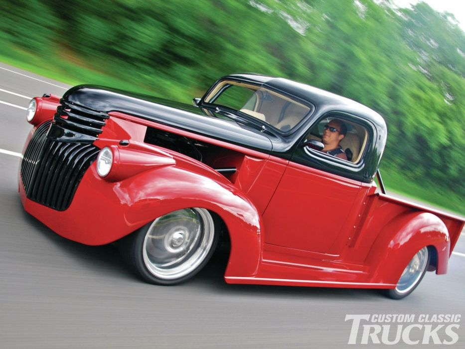 1946 Chevrolet Checvy Pickup Lowered Low Hotrod Streetrod Hot Rod Street USA 1600x1200-04 wallpaper