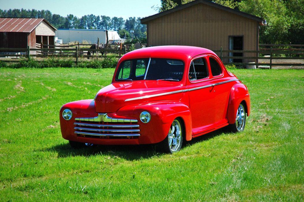 1946 Ford Business Coupe Hotrod Streetrod Hot Rod Street USA 1500x1000-05 wallpaper