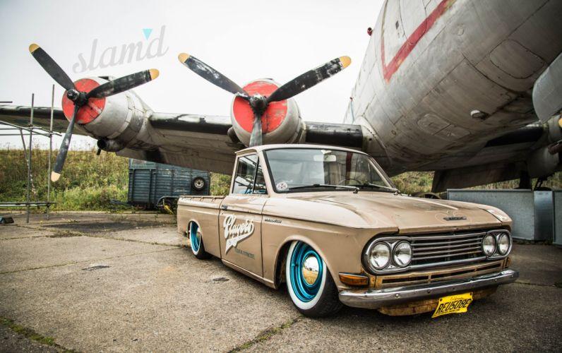 1966 Datsun 520 pickup lowrider truck nissan custom classic b wallpaper
