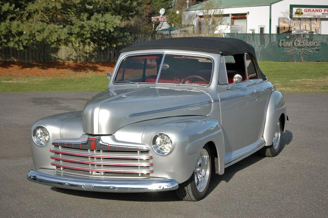 1946 Ford Deluxe Convertible Hotrod Streetrod Hot Rod Street USA 1500x1000-01 wallpaper