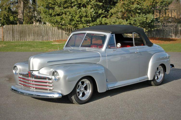 1946 Ford Deluxe Convertible Hotrod Streetrod Hot Rod Street USA 1500x1000-02 wallpaper