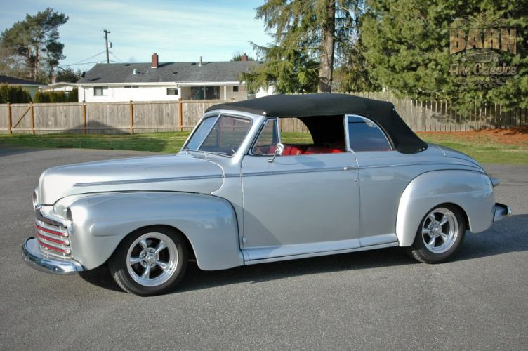 1946 Ford Deluxe Convertible Hotrod Streetrod Hot Rod Street USA 1500x1000-03 wallpaper