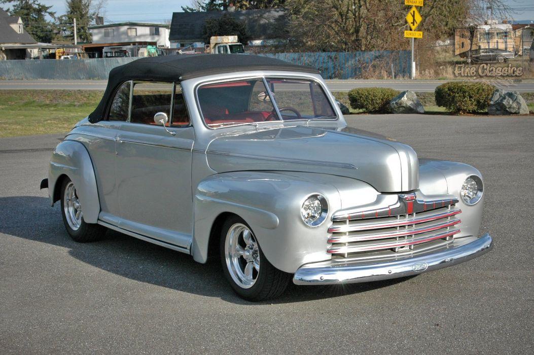 1946 Ford Deluxe Convertible Hotrod Streetrod Hot Rod Street USA 1500x1000-06 wallpaper