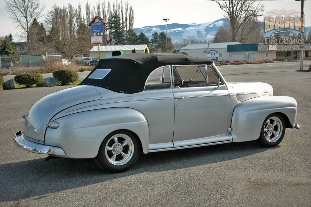 1946 Ford Deluxe Convertible Hotrod Streetrod Hot Rod Street USA 1500x1000-05 wallpaper