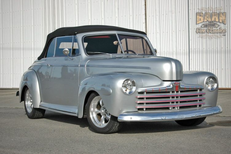 1946 Ford Deluxe Convertible Hotrod Streetrod Hot Rod Street USA 1500x1000-16 wallpaper