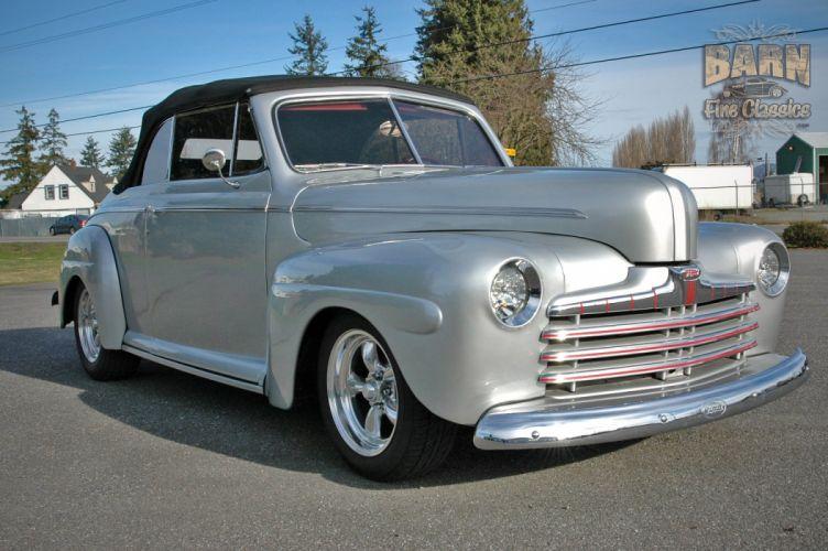1946 Ford Deluxe Convertible Hotrod Streetrod Hot Rod Street USA 1500x1000-13 wallpaper