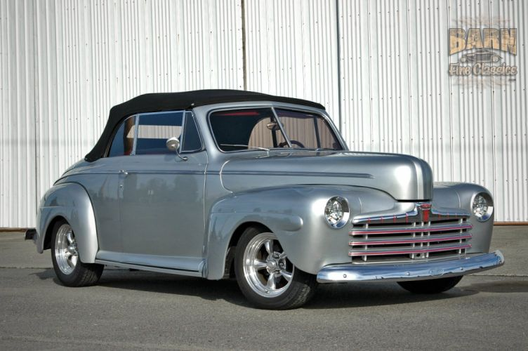 1946 Ford Deluxe Convertible Hotrod Streetrod Hot Rod Street USA 1500x1000-17 wallpaper